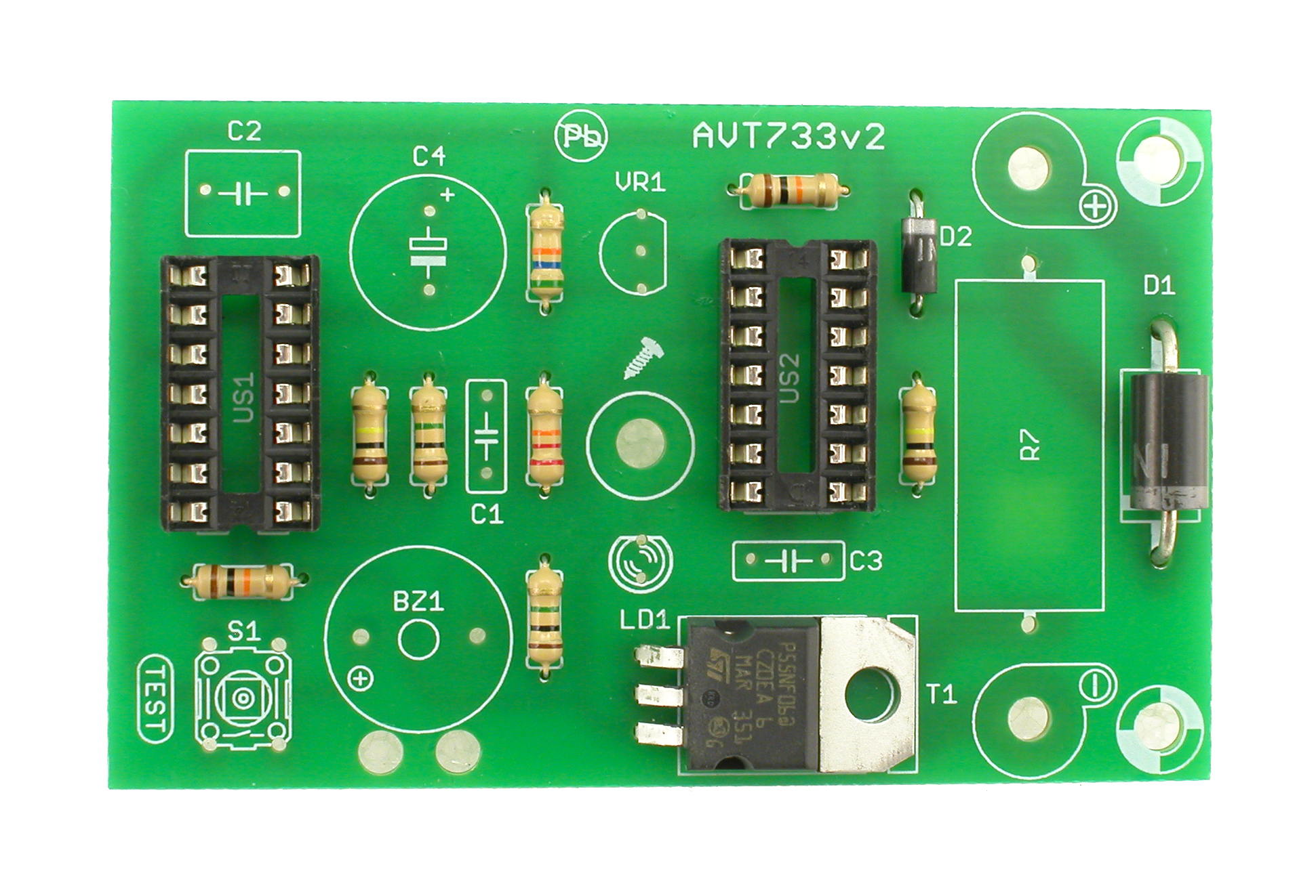 Avt 733 Miniature Battery Is Used To Power The Circuit Two Transistors T1 And Zoom
