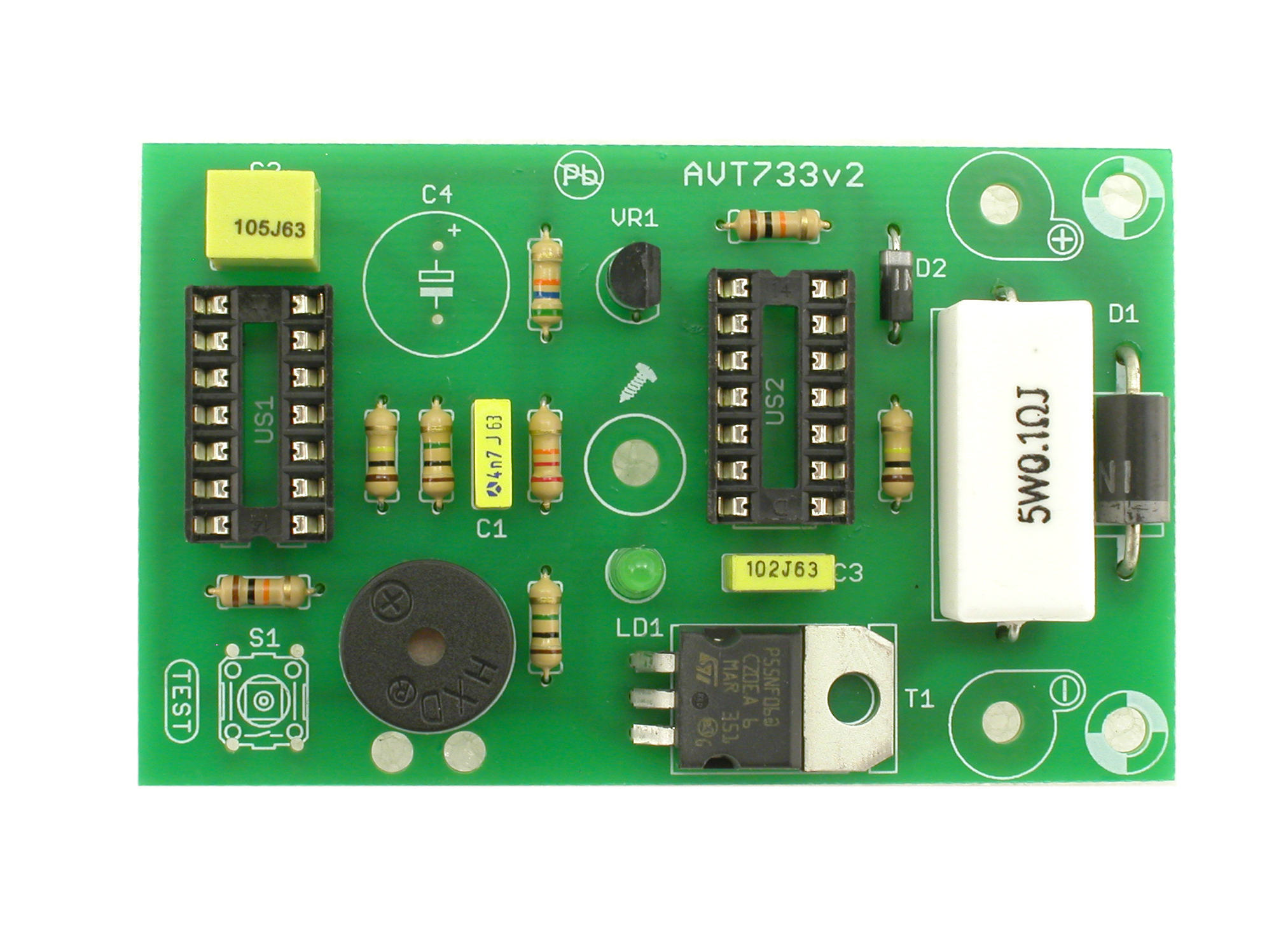 Avt 733 Battery Low Voltage Beeper Using Cmos Timer Zoom